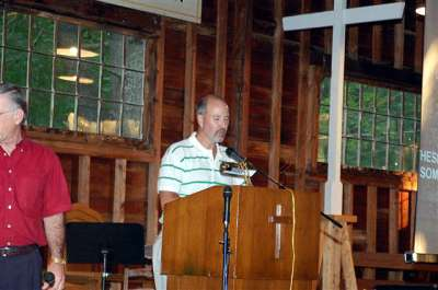 Dr. Mike Cnossen seeks the Lord's Blessing on Douglas Camp