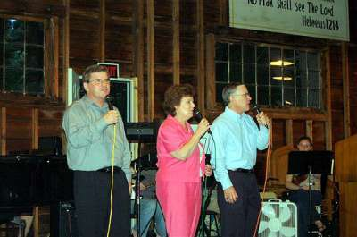 Steve, his wife Jan and his brother Nate sing for the Lord